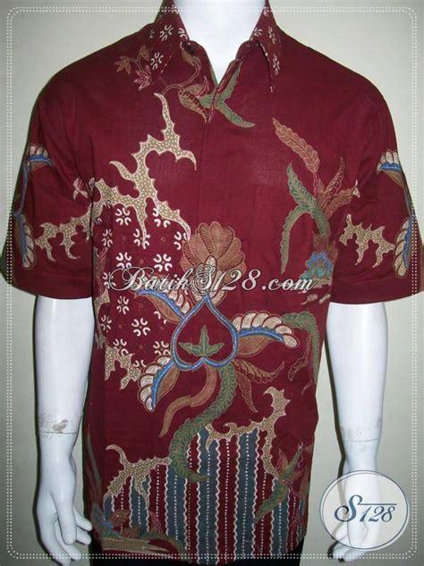 Baju Sarimbit Batik Merah Bsd 141 baju batik merah pria modern batik tulis abstrak asli batik ld802t xl toko batik