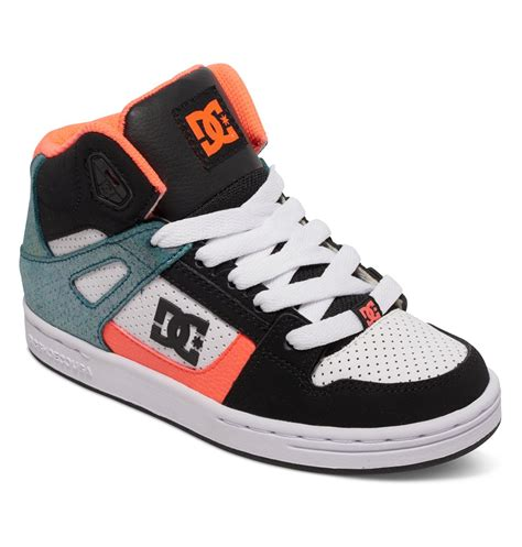 dc shoes high tops for dc shoes rebound se high top shoes for boys 303310b