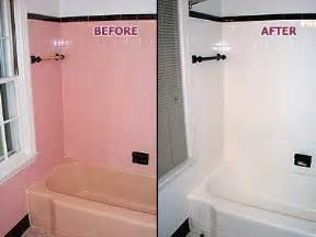 Bathtub Resurfacing Reviews Pink Tub Amp Tile Before Amp After From Renew Kitchen Amp Bath