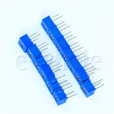 resistor trimmer calculator standard trimmer resistor values 28 images 15 values 3296 trimmer trim pot resistor