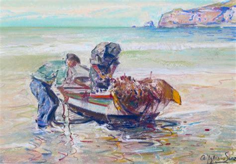 imagenes graciosos de pescadores dibujo al pastel original pescadores portugal antonio