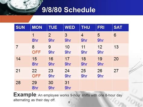 Alternative Work Week Schedules Ppt Video Online Download 9 80 Work Schedule Template