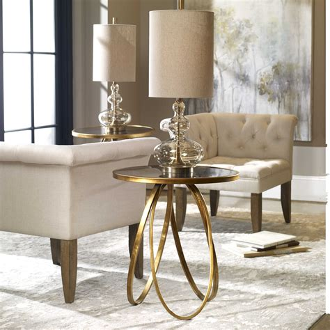 Www Uttermost by Uttermost Montrez Gold Accent Table