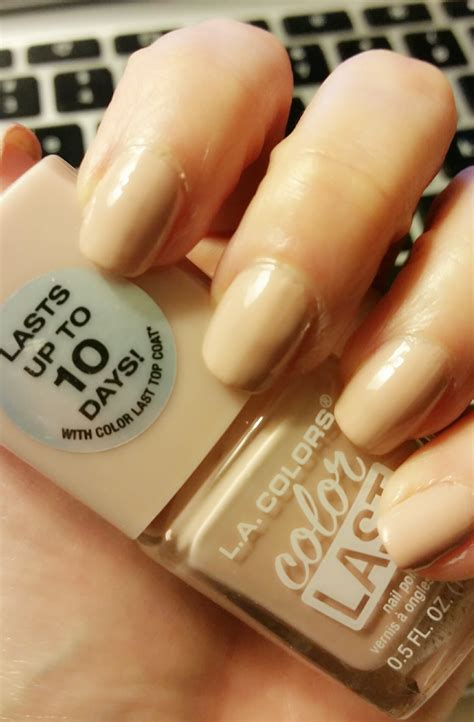 the best long lasting drugstore nail polish ive tried beautify review l a colors colorlast nailpolish