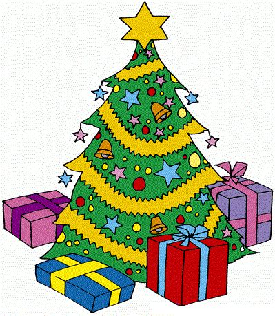 clip art christmas tree with presents clipart panda