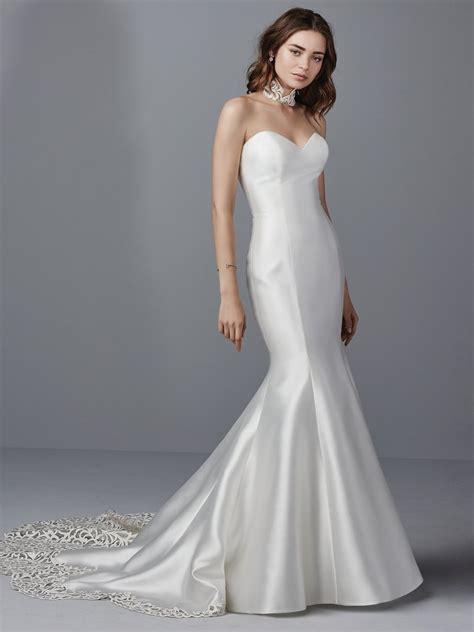 simple satin wedding dresses maggie maggie