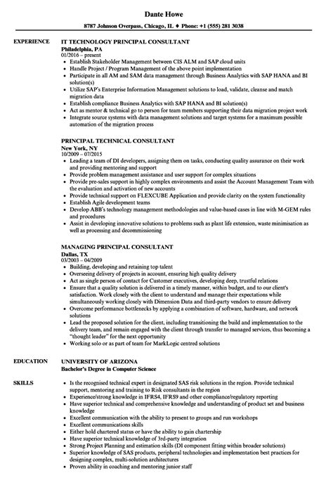 Principal Resume by Consultant Principal Resume Sles Velvet