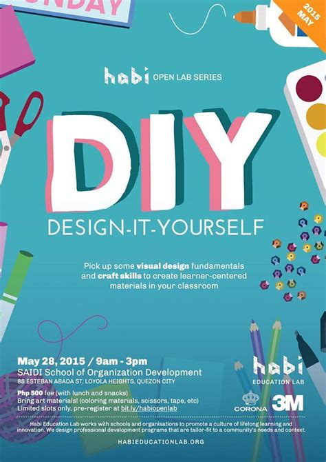 Design Poster Yourself | diy design it yourself habi education lab