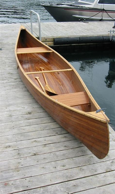 Handmade Canoe For Sale - made cedar canoe by holt woodworks custommade