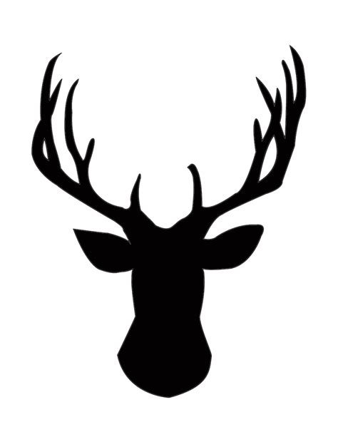 Stags Head Home Decor by Diy Gold Foil Deer Head Silhouette