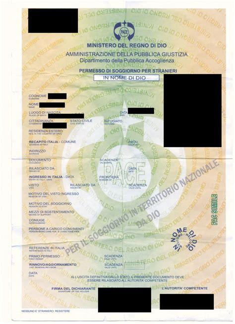 controllo permesso di soggiorno roma mostra ai carabinieri permesso di soggiorno rilasciato dal