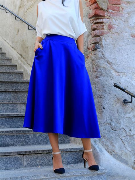 royal blue skirt i am georgiana