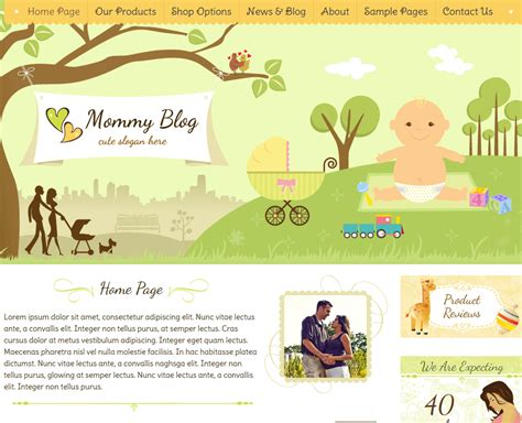 wordpress themes free baby 10 wordpress themes for babysitters and baby shops wp solver