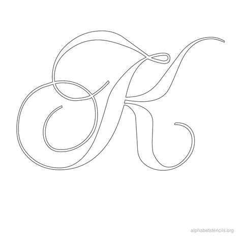 calligraphy template letter k calligraphy