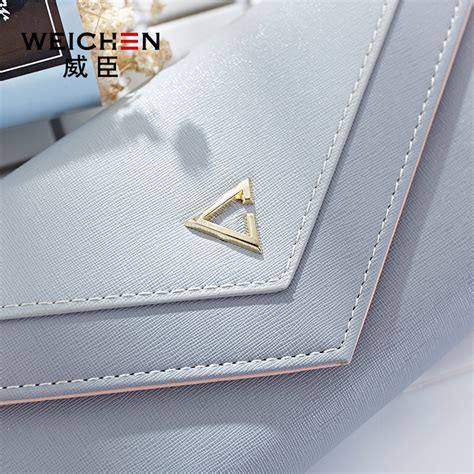 Dompet Zipper Dompet Wanita Clutch Geometric Zipper Coin Wallet Pink
