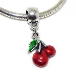 Pandora Cherries Clip Charm P 478 pandora enamel cherry fruit dangle pendant for clip on charm