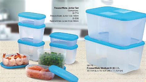 Seal Tupperware Medium Freezermate tupperware 10pcs freezer mate junior medium set 25