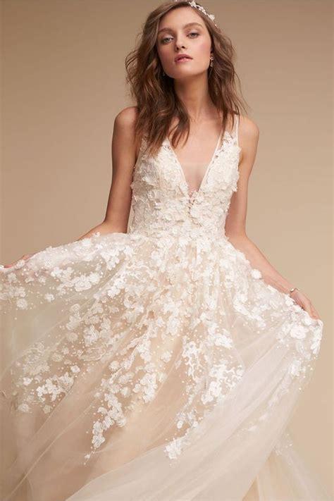 Floral Panel A Line Skirt 30 gorgeous floral applique wedding dresses weddingomania