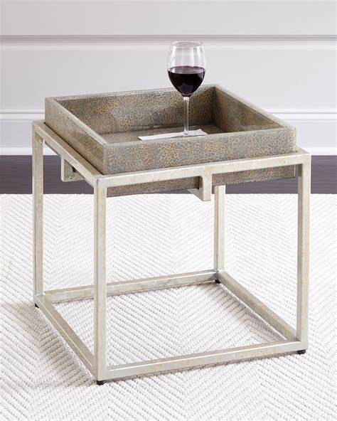 shop side table with removable tray alegra side table with removable tray gray
