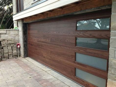 Garage Door Accents Chi Accents Plank Steel Door With Laminate Windows Contemporary Garage And Shed Los