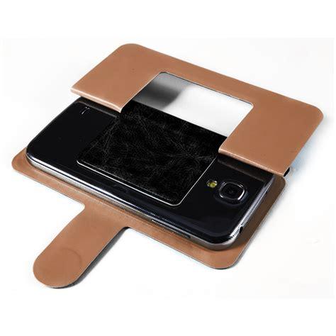 Universal Flip Single Window 5inch universal 4 5 5 inch phone smartphone black leather flip cover stand ebay