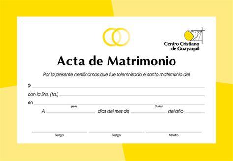 certificado de matrimonio para kermes acta de matrimonio civil para kermes