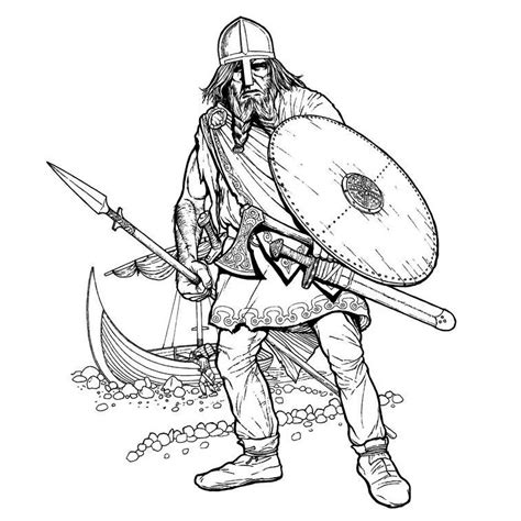 Viking Characters Printable Coloring Pages Drawing For To Colour