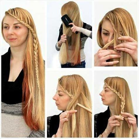 beautiful hairstyles at home آموزش چند بافت موی مجلسی تصویری