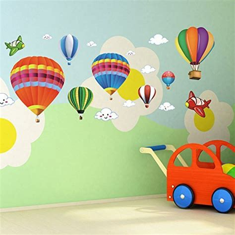 How To Apply A Wall Sticker amaonm removable creative 3d hot air balloon aircraft and