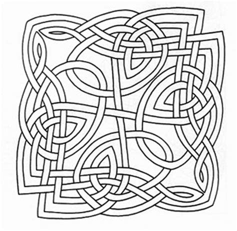 Knot Designs - celtic knot letters coloring pages
