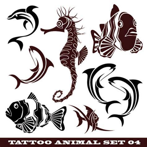 鱼 海马卡通矢量图 卡通矢量图 三联