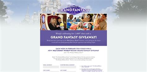 Today Show Vacation Giveaway - wendy s grand fantasy giveaway grandfantasygiveaway com