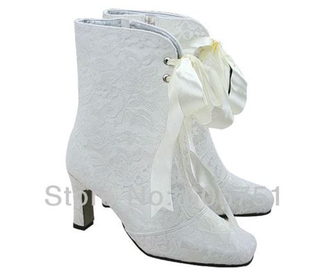 white wedding ankle boots ivory high heel boots shopping the world largest