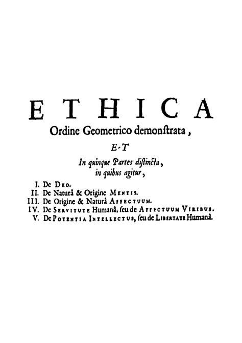 Ética (Espinoza) – Wikipédia, a enciclopédia livre