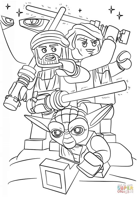 lego star wars clone wars coloring page  printable