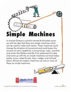 simple machines worksheet education com