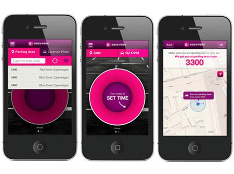 app design zürich easypark an app for easy car parking on behance
