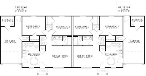 Basic Ranch House Plans by Bordeau Ranch Duplex Home Plan 055d 0874 House Plans And