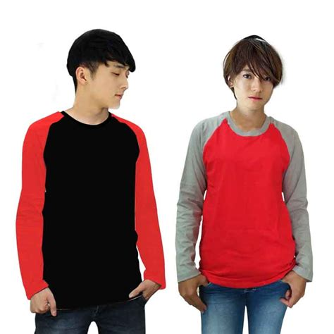 Baju Kaos Panjang T Shirt kaos lengan panjang reglan wanita best quality t shirt