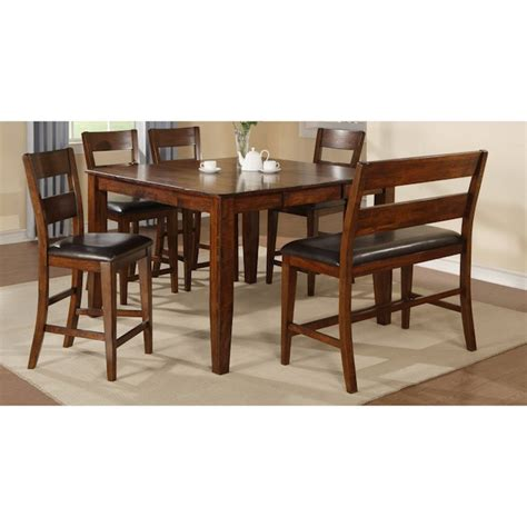 warehouse of table ls mango 6 pub set with bench dining sets dining