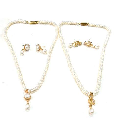 Rs Kapi Top 39 on sri kapi pearls combo of 2 pearl necklace sets
