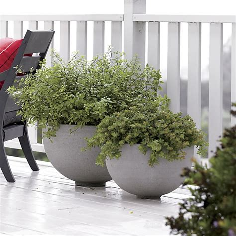 crate and barrel planters ibarra ficonstone planters crate and barrel
