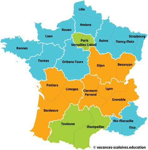 Zone Des Vacances Scolaires 2017 Carte Des Zones Scolaires 2016 Carte Vacances Scolaires 2016