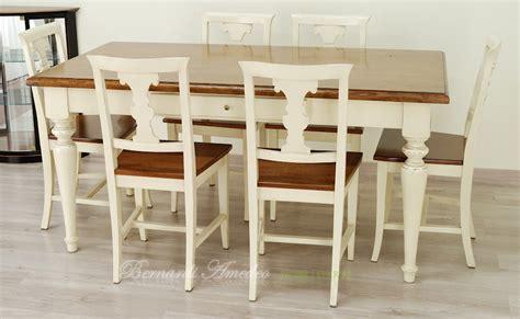 tavolo e sedie cucina tavoli country da cucina in legno massello tavoli