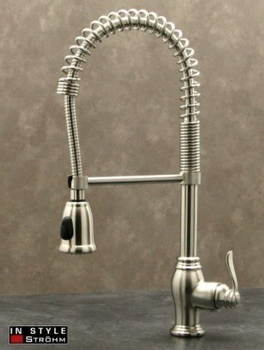 kitchen faucet with handspray strohm chef series pre rinse kitchen faucet high arc pull