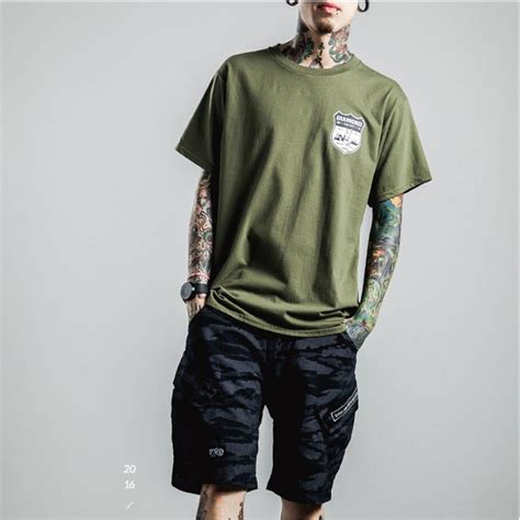 T Shirt Pria Where kaos katun pria letter o neck size s t shirt army green jakartanotebook