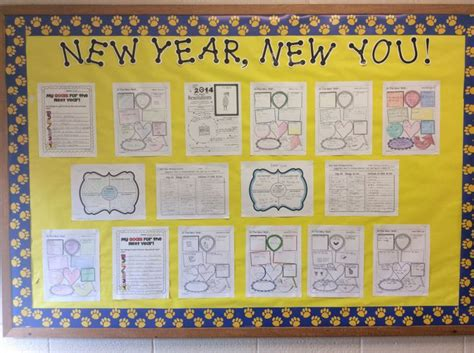 new year teaching ideas middle school bulletin boards new year s bulletin