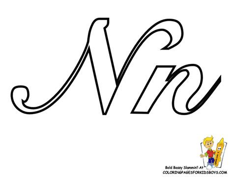 Capital N Coloring Page by N Coloring Pages Of Cursive Letters Get Coloring Pages