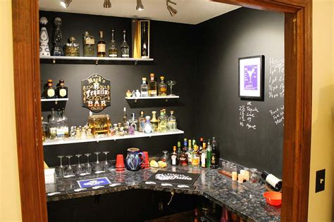 amazing before and after home bar shelving install