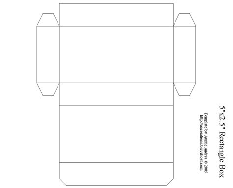 templates of boxes 5 quot rectangle box box templates pinterest box and
